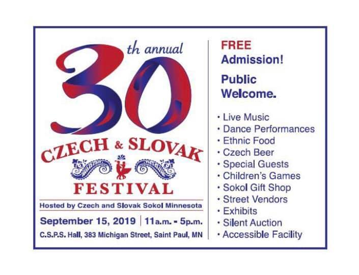 30th Annual Czech & Slovak Festival 2019 Minnesota