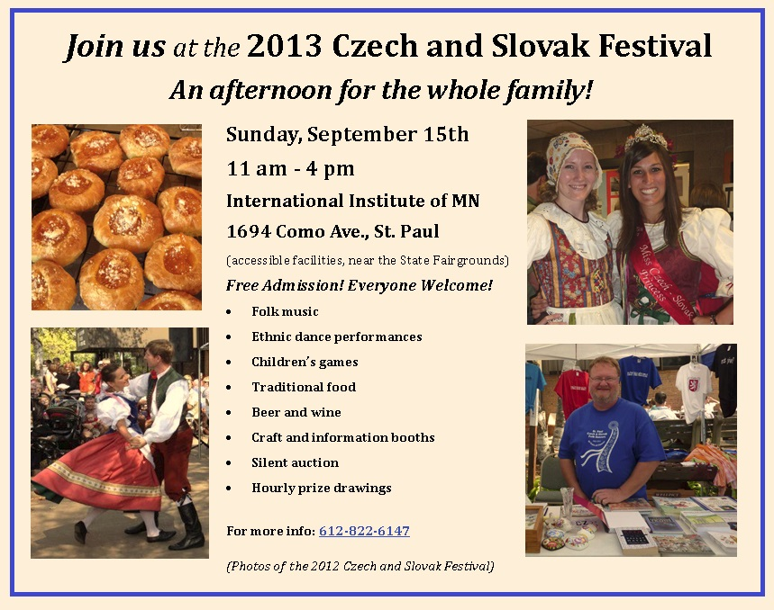 Czech and Slovak Festival  Minnesota  2013