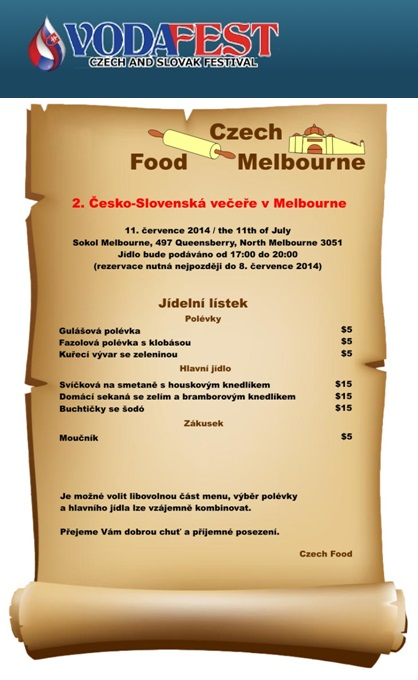 2nd Czech-Slovak dinners at Sokol Melbourne 2014