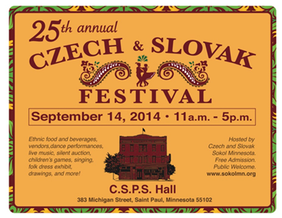 25th Annual Czech and Slovak Festival Minnesota 2014