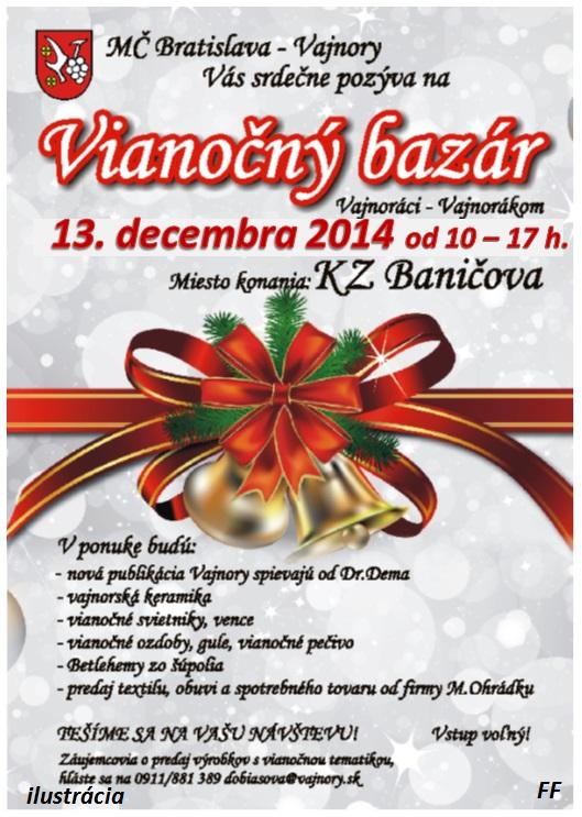Vianočný bazár vo Vajnoroch 2014 - Bratislava - Vajnory ... ad198b7d133