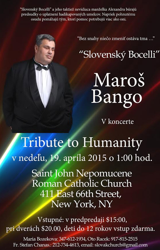 Tribute to Humanity - Maroš Bango New York 2015
