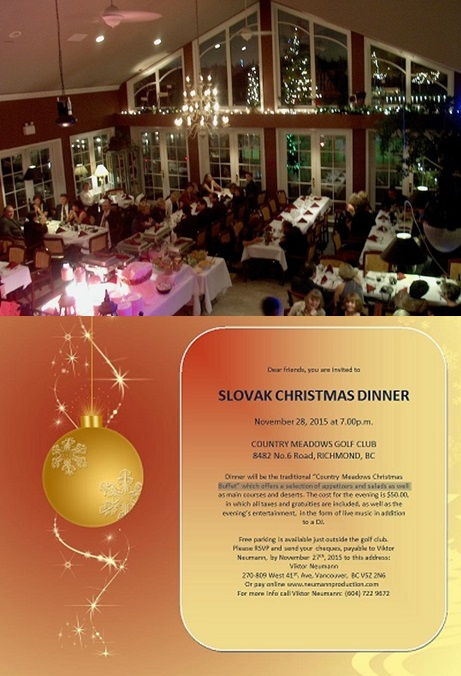 Slovak Christmas Dinner Richmond 2015