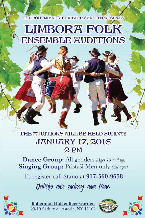 Slovak Folk Ensemble LIMBORA Auditions 2015 New York