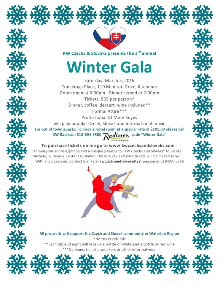 3rd Annual Winter Gala 2016 Kitchener