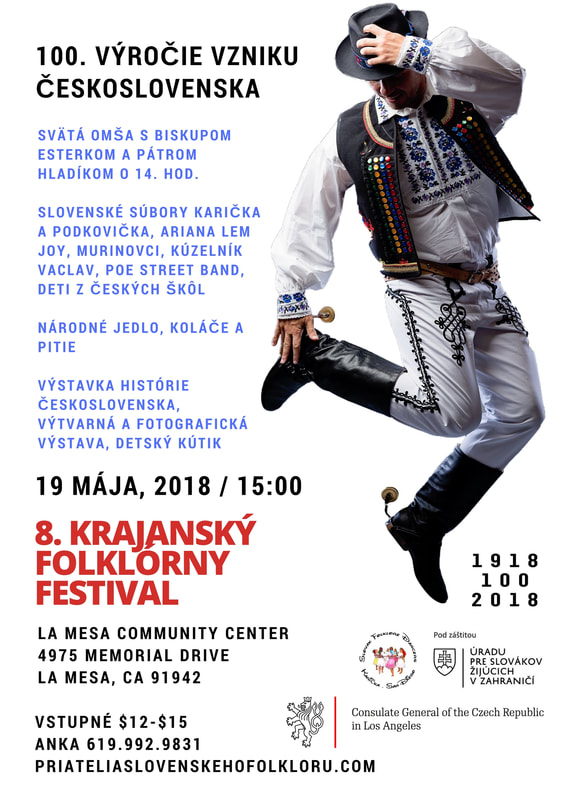 8th annual Czech, Moravian and Slovak Festival and 100. anniversary of Czechoslovakia 2018