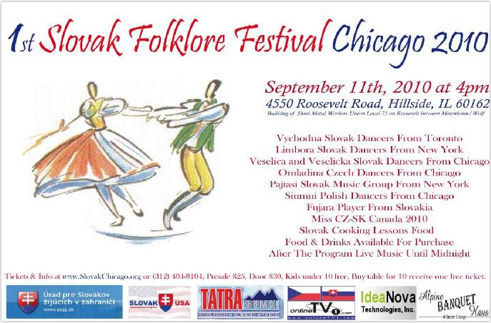 1st Slovak Folklore Festival Chicago 2010
