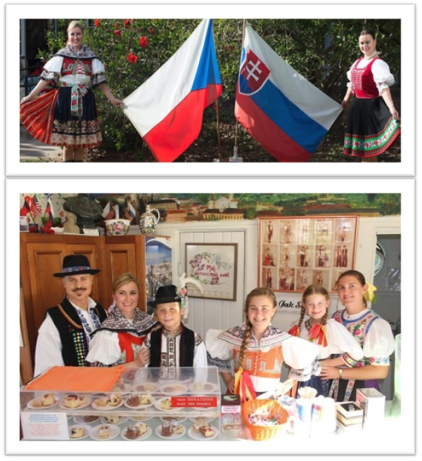 Tana and Martina hosting at Czech and Slovak House 2018 San Diego