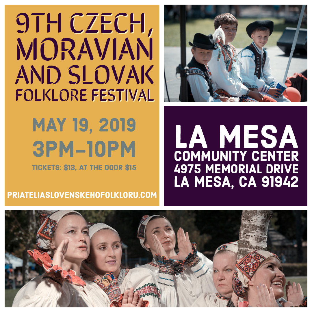 9th annual Czech, Moravian and Slovak Festival  2019 La Mesa