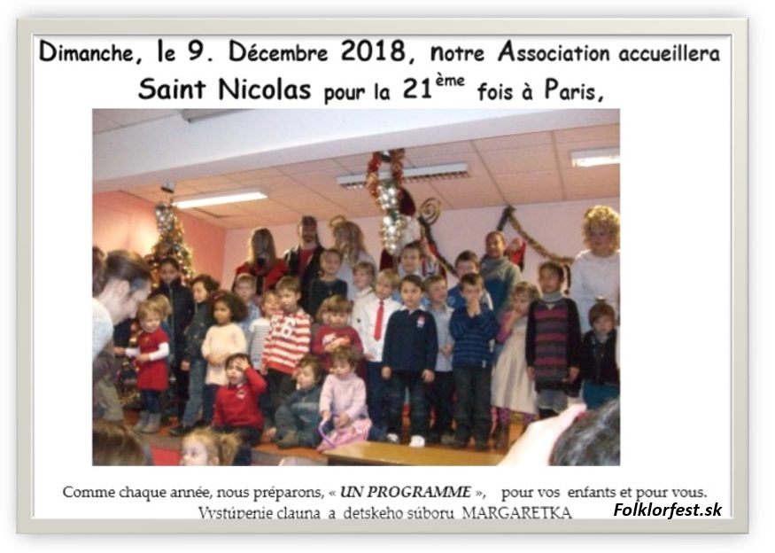 Saint Nicolas 2018 Paris