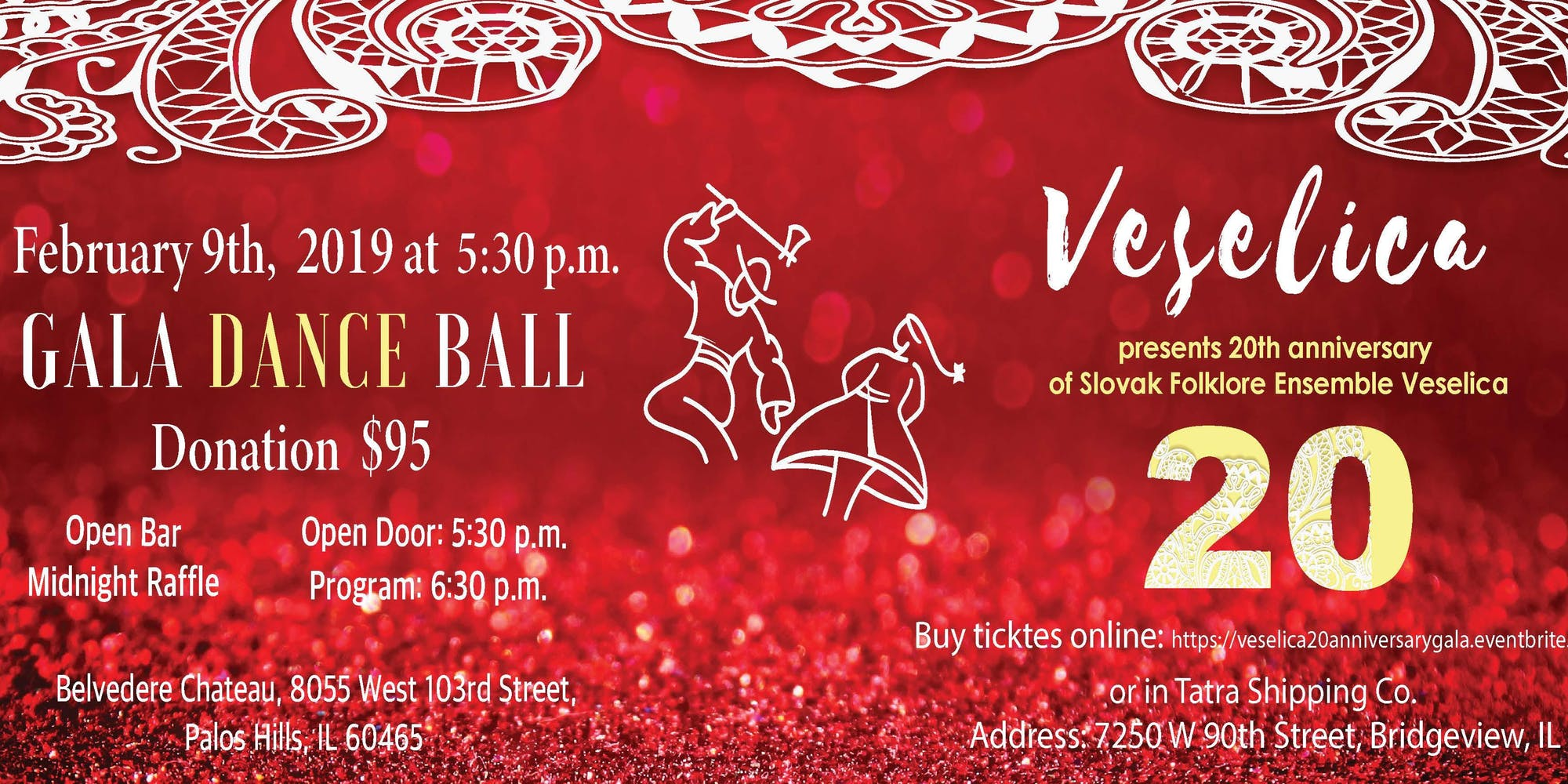 Gala Ball 2019 Chicago - 20th Anniversary of Slovak Folklore Ensemble Veselica...